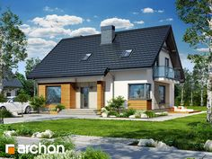 Dom w jabłonkach 4 Home Fashion, Home Projects, House Plans, New Homes, Sweet Home, House Design, Mansions, How To Plan, House Styles