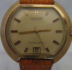 Vintage Rare Hamilton Fontainebleau Gentlemans Wristwatch. | #268966830 Vintage Hamilton Watches, Vintage Watches, Hamilton Watch Company, Wristwatches, Watch Bands, Clock, Antiques, Ebay, Watch