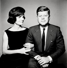 I adore the way she is looking at him in this one. Jacqueline Kennedy & John F. Kennedy, 1961