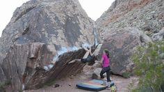 Bouldering. Alex Johnson, Kati Peters and Fritz on a climbing trip to Red Rock Canyon. Featuring The Pearl V5, The High Road V7, Monkey Wrench V7, The Alexisizer V6, Poker Chips V1, Ultimate Grandstaff V5, Scare Tactics V10, Vigilante V10, Porkchop V3.