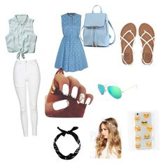 """""""Casual blue"""" by drr0626 on Polyvore featuring Abercrombie & Fitch, Topshop, Yumi, Billabong, Ankit, Ray-Ban, New Look and ASOS"""