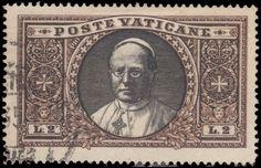 Vatican City 1933 2l Pope Pius, fine used.