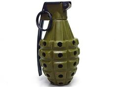 Snicker 360° Gas Powered MKII Grenade Olive Drab OD by AirSoft. $40.99. FEATURES: Snicker reusable gas powered Mark II grenade. 360° all direction shooting. 1:1 scale replica Mark II fragmentation grenade. Loading capacity: 40 - 80 rounds 6mm BB. Operated by 134a gas / top gas. Shooting range over 20M. Powder can also be used for shooting. Allow repeated use. A lot of fun in your game (CAUTION: Player must wear a safety goggles & gears before operate this unit. Please rea...