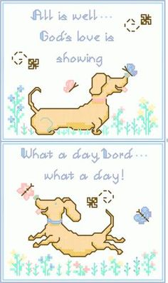 Happy Dogs - cross stitch pattern designed by Cathy Bussi. Category: Domestic.