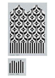 Anna Bauers vantdiagram Intarsia Patterns, Fair Isle Knitting Patterns, Knitting Machine Patterns, Knitting Charts, Knitted Mittens Pattern, Knit Mittens, Knitted Gloves, Knitting Socks, Loom Beading