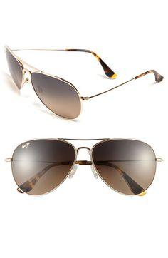 Maui Jim 'Mavericks' 61mm PolarizedPlus®2 Aviator Sunglasses available at #Nordstrom