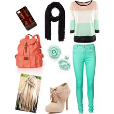 cute outfits for school | fashion look from January 2013 featuring H&M tops, Vero Moda jeans ...