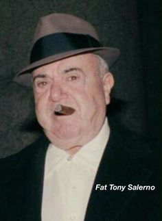 Born on this day in Anthony 'Fat Tony' Salerno. Former street boss of the genovese family Real Gangster, Mafia Gangster, Gangster Style, Italian Mobsters, Mafia Crime, Neutral, Al Capone, Tough Guy, Thug Life