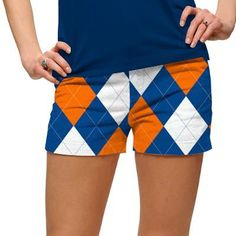 Womens Orange & Blue Made To Order Mini Shorts by Loudmouth Golf.  Buy it @ ReadyGolf.com