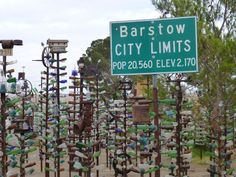 Barstow - a must stop -- on Route 66.