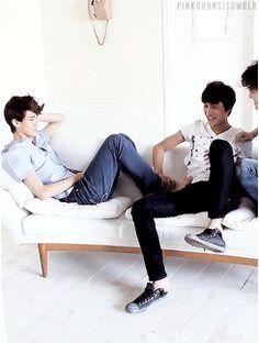 Kai, Baek, and Sehun