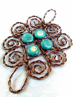 Twisted wire pendant  Stepbystep pdf tutorial by beadshead on Etsy, $6.00