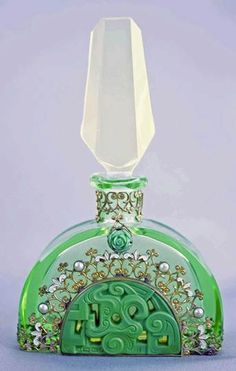 We love this vintage art deco perfume bottle!