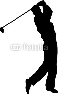 silhouette pictures of golf | Golf Player Silhouette Golfer vector silhouettes