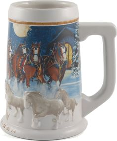 Budweiser Christmas steins and mugs make perfect gift ideas for this holiday season. Budweiser steins are great for collecting with new steins...