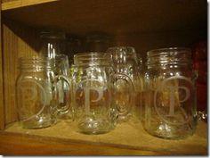 DIY engraved mason jars