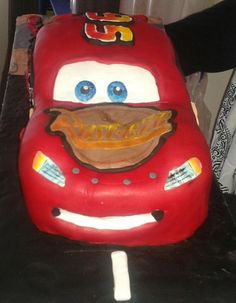 Lightning McQueen - my first ever car cake