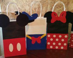 Bolsas de regalo Favor fiesta Mickey Minnie y por PartyRockinEvents