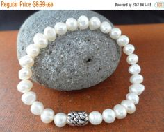 ON-SALE Pearl Bracelet  White Freshwater Pearl by DaniJessBoutique