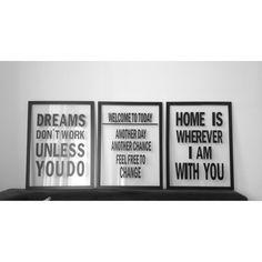 Cuadros tipográficos para #EspaciosFelices  Escoge tu frase favorita y personalizalos! :)