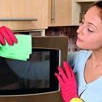 Dica de como limpar o microondas com vinagre