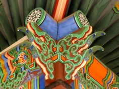 Korean Buddhist temple woodwork