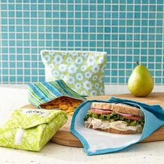 Bid plastic bags good-bye. With a little time and less than a yard of fabric, you can make your own washable, reusable snack bags and sandwich wraps for meals on the go. Get our free printable template to create your own personalized version of our reusable bags and wraps.