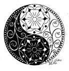 Black and white design ying yang