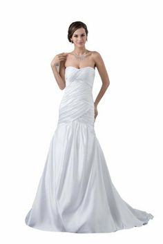 herafa Sweetheart Mermaid Wedding Dress Sweep Length Train Ruched White, http://www.amazon.com/dp/B00BEWUJJU/ref=cm_sw_r_pi_awdl_TxVHsb0S0E9VM