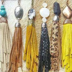 Lavish Leathers' Tassel Necklace! www.lavishleathers.com