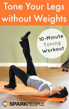 Zero-equipment, 10-minute lean legs #workout! No excuses!!   via @SparkPeople…