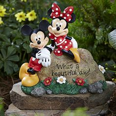 Disney Garden Rock- Mickey and Minnie