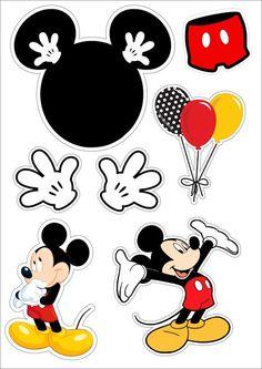 Topo de bolo mickey Mickey Mouse Png, Baby Mickey, Mickey Mouse Stickers, Theme Mickey, Mickey First Birthday, Fiesta Mickey Mouse, Mickey Mouse Clubhouse Birthday, Mickey Mouse Printable, Images Of Mickey Mouse
