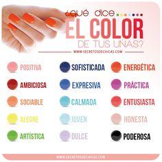 Que dice el color de tus uñas