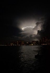 """Lightning over Waikiki"" by Brian Russo Catatumbo Lightning, Moving To Hawaii, Falling Skies, Wild Weather, Waikiki Beach, Lightning Strikes, Tornadoes, Thunderstorms, Mother Nature"
