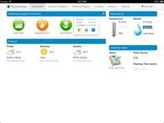 HydraWise Irrigation (iPad) - Dashboard