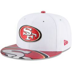79e79ab9c43 Men s San Francisco 49ers New Era White 2017 NFL Draft Official On Stage  59FIFTY Fitted Hat