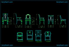 King chair, queen chair dwg block, decorarting chair for royal autocad drawing
