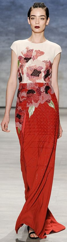 Bibhu Mohapatra Spring Summer 2015 Ready-To-Wear Floral Fashion, I Love Fashion, High Fashion, Fashion Show, Bibhu Mohapatra, Couture Dresses, White Girls, Lady In Red, Bridal Gowns