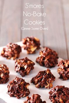 I'm marshmallow and sweets obsessed right now.  Going to have to try this ASAP!    S'mores No Bake Cookies {gimme some oven}
