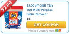 $2.00 off ONE Tide OXI Multi-Purpose Stain Remover