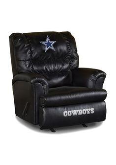 Dallas Cowboys Leather Big Daddy Recliner Recliner