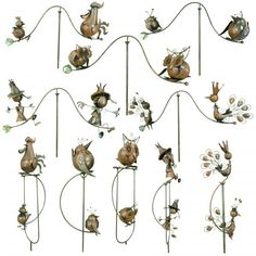 MIX AND Match Sale Rocking Spinning Balancing Metal Garden Wind Spinner  Ornament   EBay