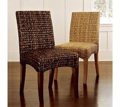 Just a bit pricier, but maybe they'd be in store for us to test out their comfort!? Seagrass Chair #potterybarn