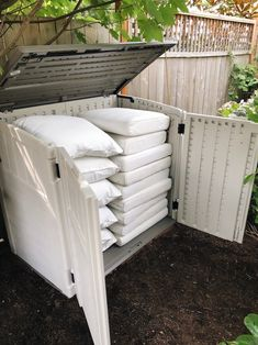 Outdoor Cushion Storage Shed - DIY and Done! - The Inspired Room shed landscaping shed storage shed landscaping landscaping design landscaping flower beds landscaping gravel landscaping ideas of shed landscaping Patio Decor, Outdoor Cushions, Ikea Patio Furniture, Patio Storage, Shed Storage, Diy Patio, Ikea Patio, Patio Cushion Storage, Diy Outdoor