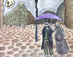 9 - Acrylic Paint - A Rainy Day's Nightmare