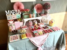 Party Table Baby Candy Bars Ideas For 2019 Candy Table, Candy Buffet, Dessert Table, Party Snacks, Appetizers For Party, Candy Bar Comunion, Bar A Bonbon, Baby Candy, Party Drinks Alcohol