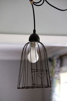 Le bianche margherite wired up pinterest le jadore le fil de fer on peut tout faire avec voici 20 birdcage lightwire lampshadelampshadeslamp greentooth Gallery