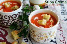 Supa crema de ardei copti My Favorite Food, Favorite Recipes, Hungarian Recipes, Yams, Pinterest Recipes, I Foods, Blueberry, Vegetarian Recipes, Good Food