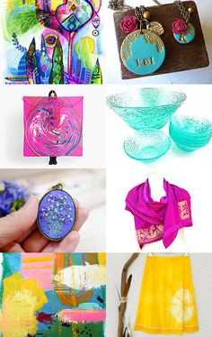 a rainbow of gifts by Starry on Etsy--Pinned with TreasuryPin.com